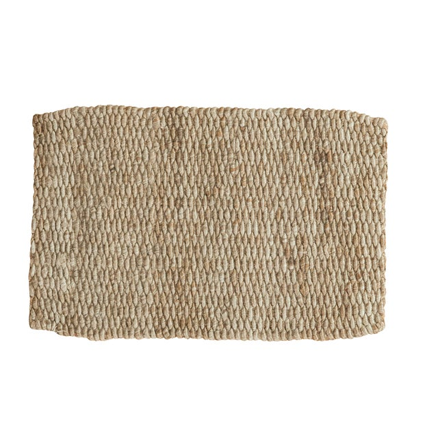 """Hand Braided Grey Entrance Mat - 2' X 3'2"""" - Image 1 of 2"""