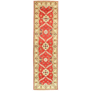 "Pasargad Ny Kazak Design Lamb's Wool Rug - 9'7"" X 2'7"" For Sale"