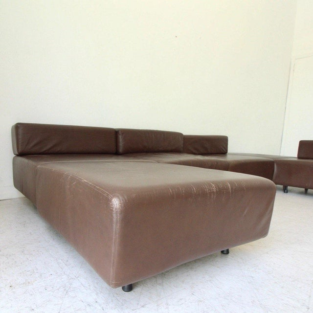 Harvey Probber Harvey Probber Leather Cubo Sectional Sofa For Sale - Image 4 of 7