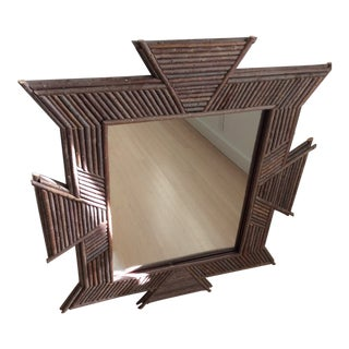 Contemporary Folk Art Willow Mirror For Sale