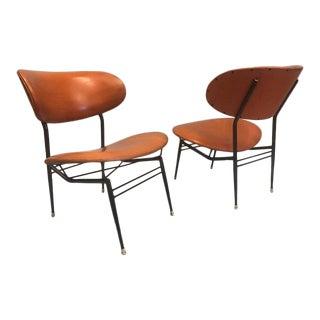 Two Pairs of Italian Mid-Century Modern Lounge Chairs by Gastone Rinaldi