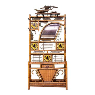 Late 19th Century Bamboo & Tile Hall Stand For Sale