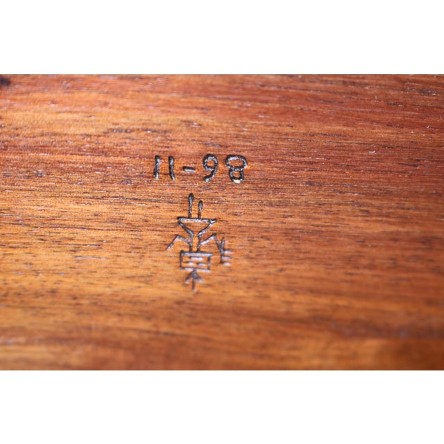 Wood 1980s Vintage Southwestern Wood Folding Table For Sale - Image 7 of 11