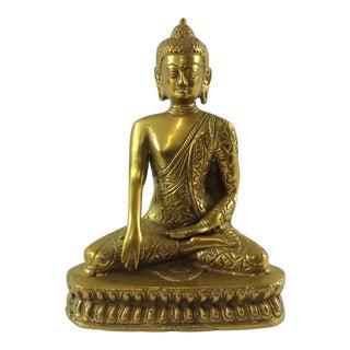 1970s Mid Century Brass Buddha