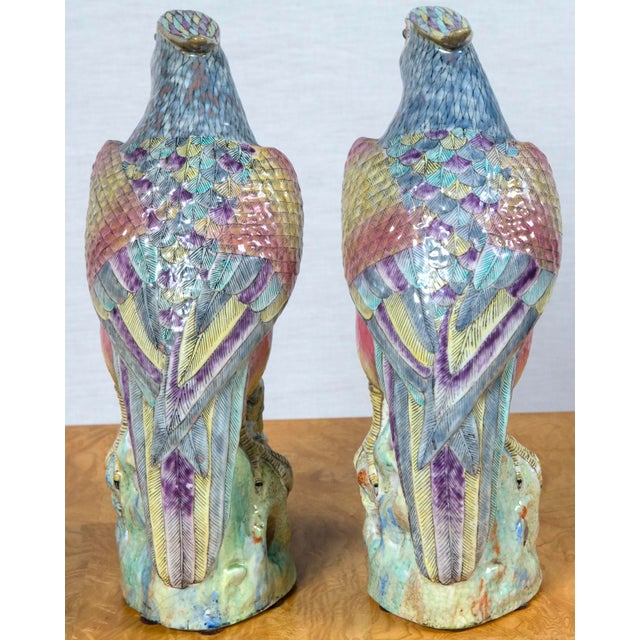 Pair of Vintage Heavy Porcelain Bird Form For Sale - Image 4 of 9
