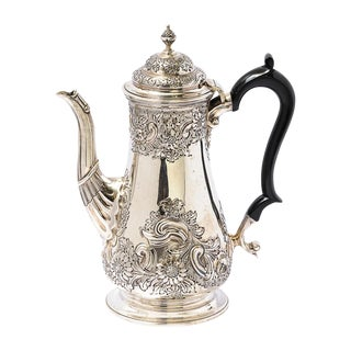 Antique English Sheffield Coffee Pot For Sale