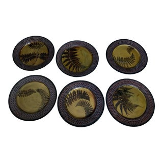 Suzanne Crane Wheel Thrown Stoneware Plates - Set of 6 For Sale