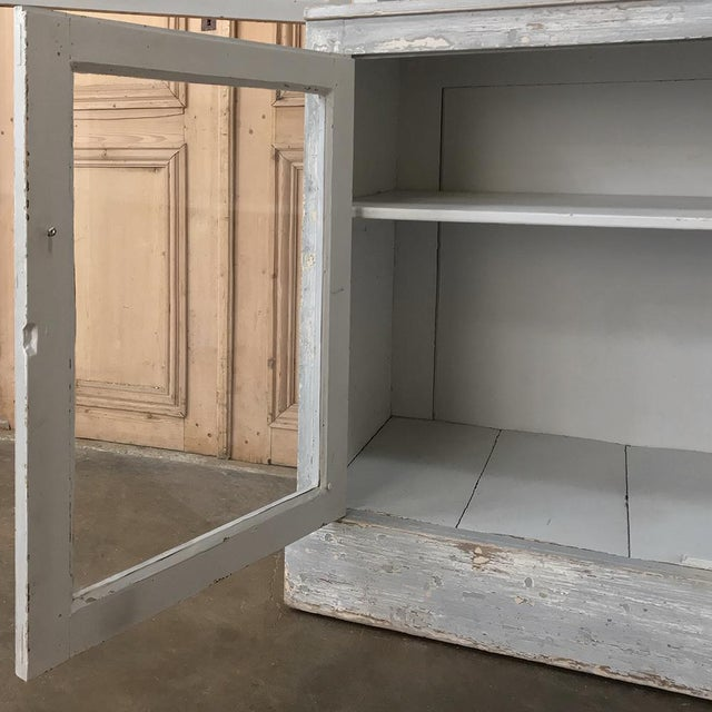 Antique Swedish Scraped Painted Bookcase For Sale - Image 4 of 13