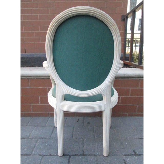 Four Bamboo Lime Finish Armchairs - Image 3 of 7