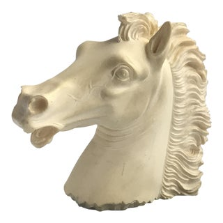 Vintage Carved Stone Horse Head Bust Figurine Statuette