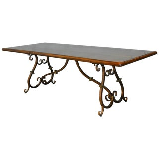Spanish Colonial Wrought Iron Trestle Table