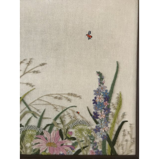Embroidered Floral Artwork - Image 3 of 5