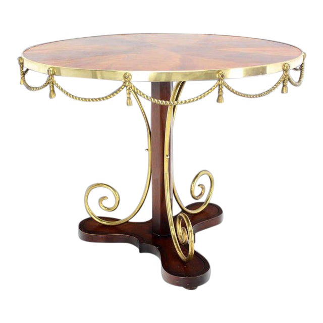Early 20th Century Vintage Neoclassical Bronze Ormolu Center Table For Sale