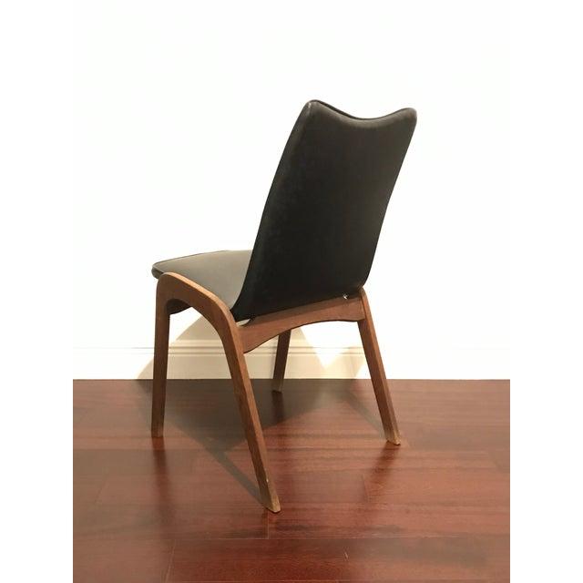 Mid-Century Modern Mid Century Modern Walnut and Vinyl Desk Chair For Sale - Image 3 of 5