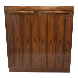 Mid-Century Danish Modern Rosewood Highboy Chest For Sale