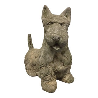Vintage Cement Scottish Terrier For Sale