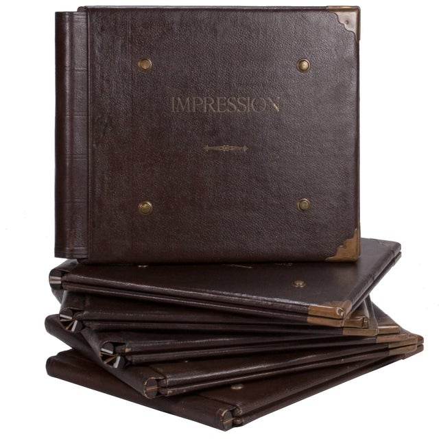 1900 - 1909 1900s French Factory Portfolios in Leather - Set of 5 For Sale - Image 5 of 5