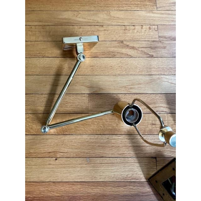 Mid-Century Modern Brass Hinson Swing Arm Lamps - a Pair For Sale - Image 10 of 11