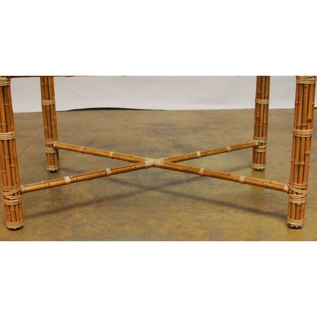 McGuire Reeded Bamboo Rectangular Dining Table - Image 5 of 8