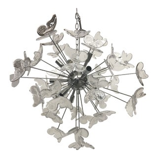 Murano Glass Butterfly Chandelier Sputnik For Sale
