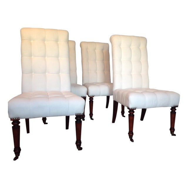 Barclay Butera Tufted Dining Chairs - Set of 4 - Image 1 of 7