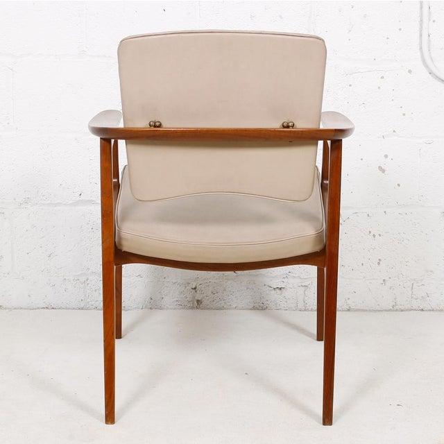 John Stuart John Stuart Pivot-Back Danish Teak Accent Chair For Sale - Image 4 of 7
