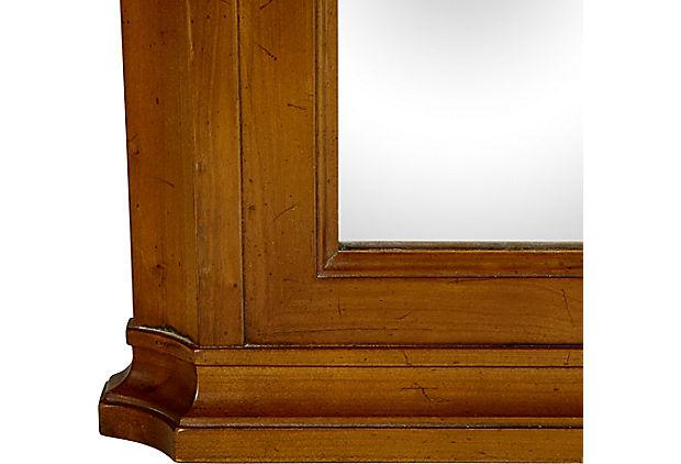 1960s Cherry Wood Wall Mirror Designed By Kindel Furniture Co In The  Belvedere Finish. Marked