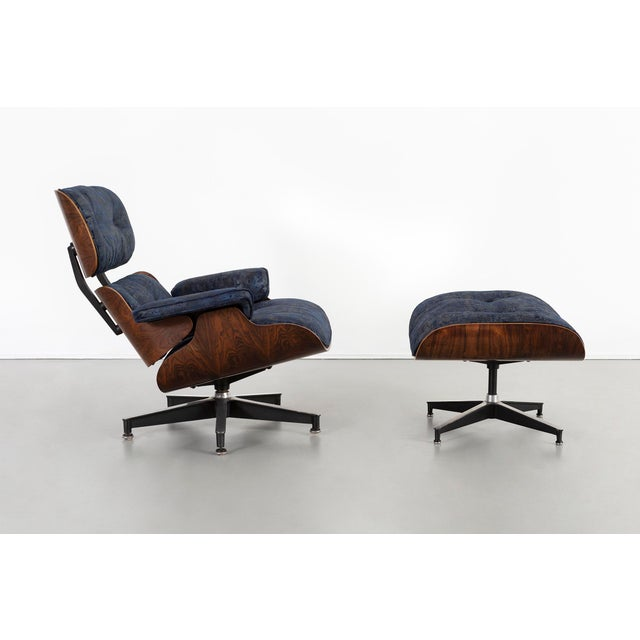 670 lounge chair and 671 ottoman Designed by Charles and Ray Eames for Herman Miller USA, circa 1950s Rosewood, aluminum...