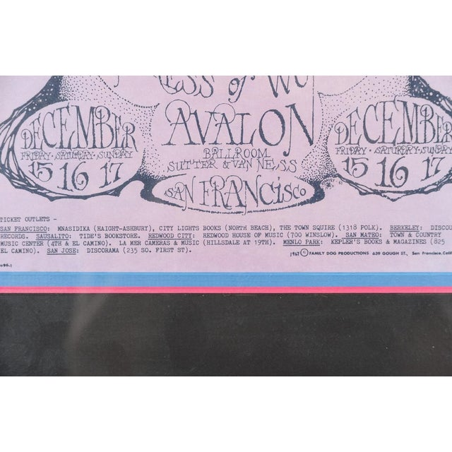 """Vintage """"The Charlatans"""" 1967 Concert Poster For Sale - Image 4 of 10"""
