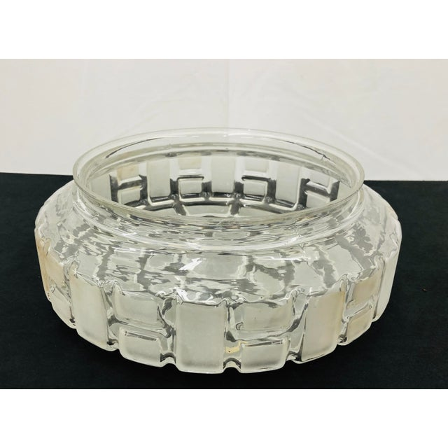 Transparent Vintage German Frosted KristalGlas Flush Mount Fixture For Sale - Image 8 of 10