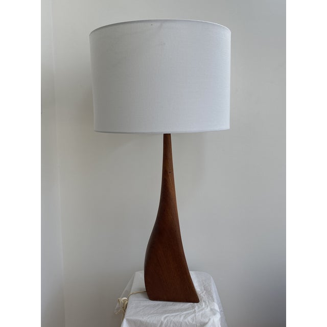 Sculptural Teak Table Lamp in the Style of Ernst Henriksen For Sale - Image 12 of 13