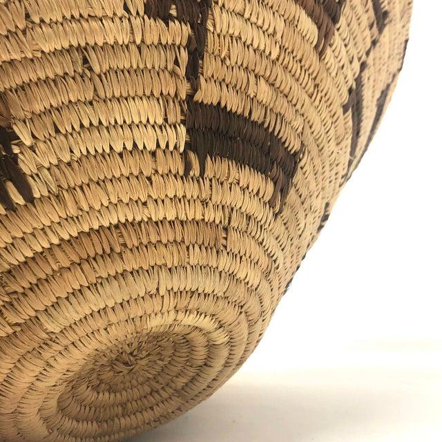 African Deer Motif Woven Basket For Sale - Image 9 of 10