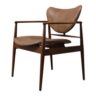 Mid-Century Danish Modern Finn Juhl for Baker Furniture Company Model 48 Arm Chair For Sale