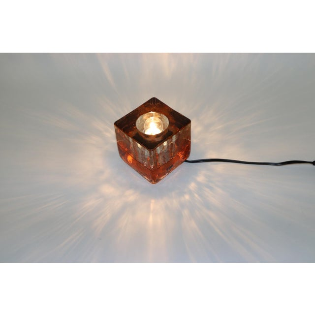 Orange Mid-Century Modern Murano Glass Table Lamp For Sale - Image 11 of 13
