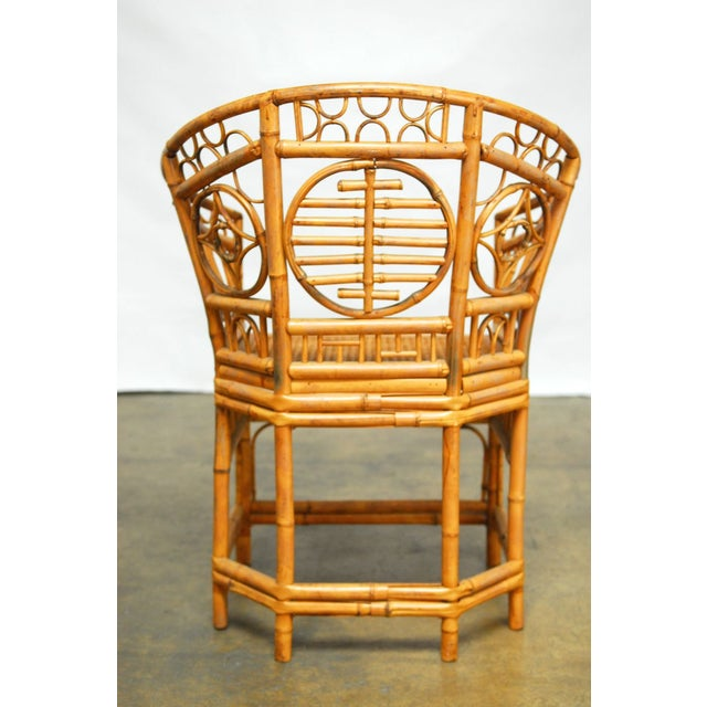 Brighton Pavilion Style Chinoiserie Chairs - Pair For Sale - Image 4 of 9