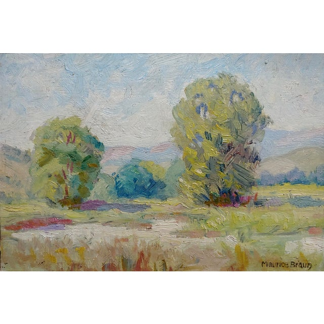 Contemporary Maurice Braun - Study of a California Landscape -Oil Painting For Sale - Image 3 of 8
