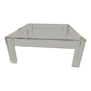 Minimalist Lucite Coffee Table For Sale