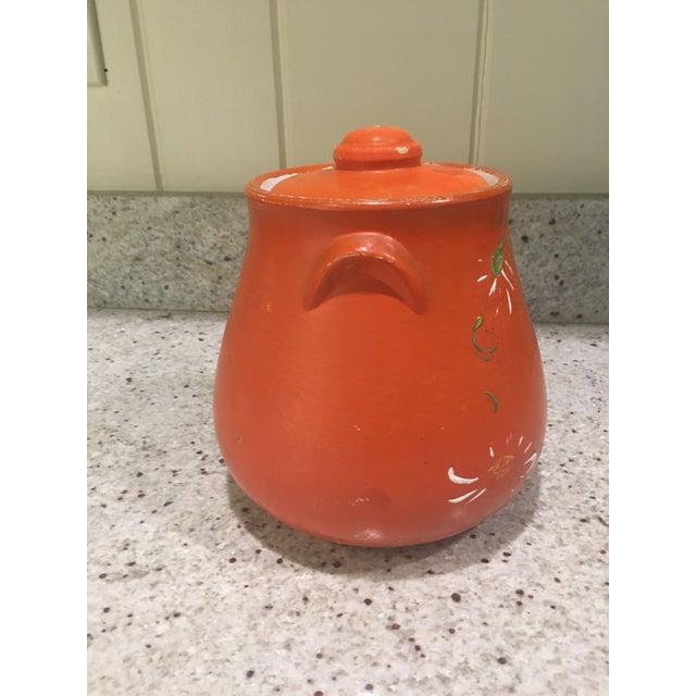 Orange Floral Cookie Jar - Image 5 of 8