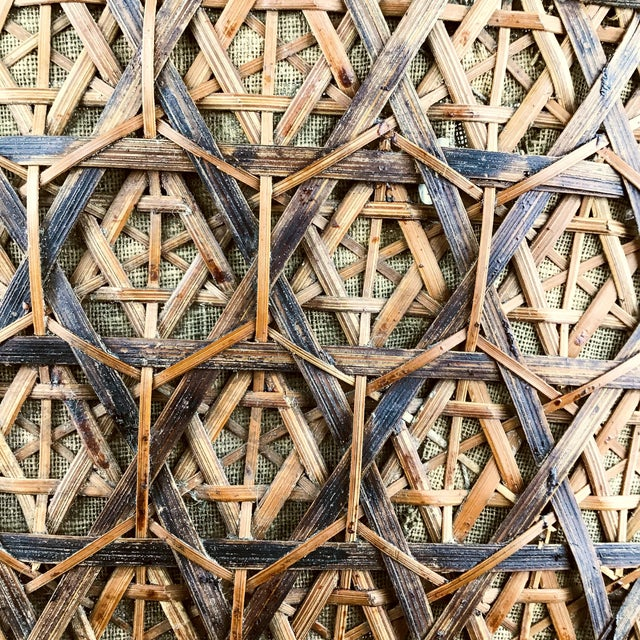 Wicker Chinese Antique Large Woven Empress Basket For Sale - Image 7 of 13