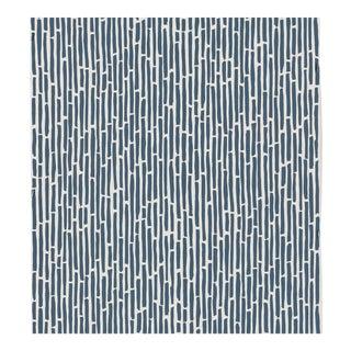Sample - Schumacher Bamboo Wallpaper in Marine For Sale