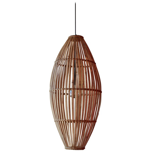 Rattan Hanging Pendant Lamp For Sale - Image 9 of 9
