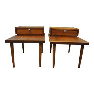 American of Martinsville Mid-Century Walnut Side Tables - A Pair