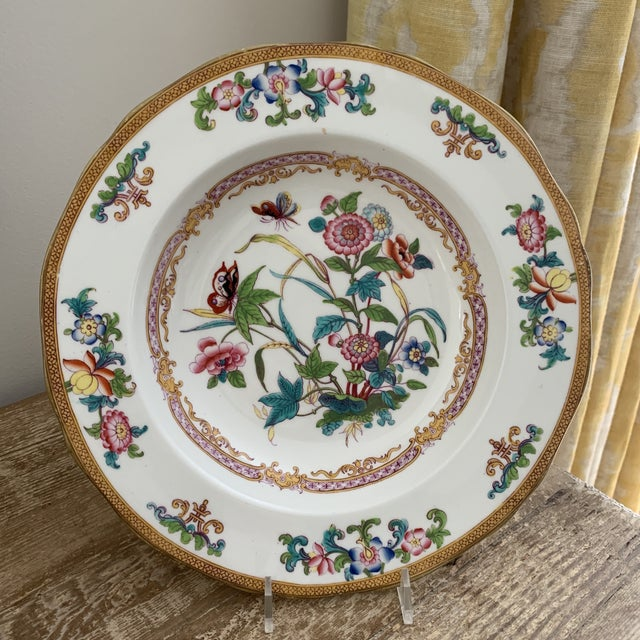 Early 19th Century Antique English Minton Chinoiserie Shallow Dinner Bowls- Set of 8 For Sale - Image 5 of 11