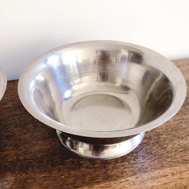 1960s Vintage Stainless Steel Bowls - a Pair For Sale - Image 5 of 6