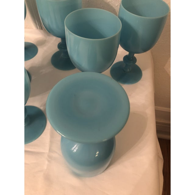 Portieux Vallerysthal Water Goblets - Set of 8 For Sale - Image 6 of 7