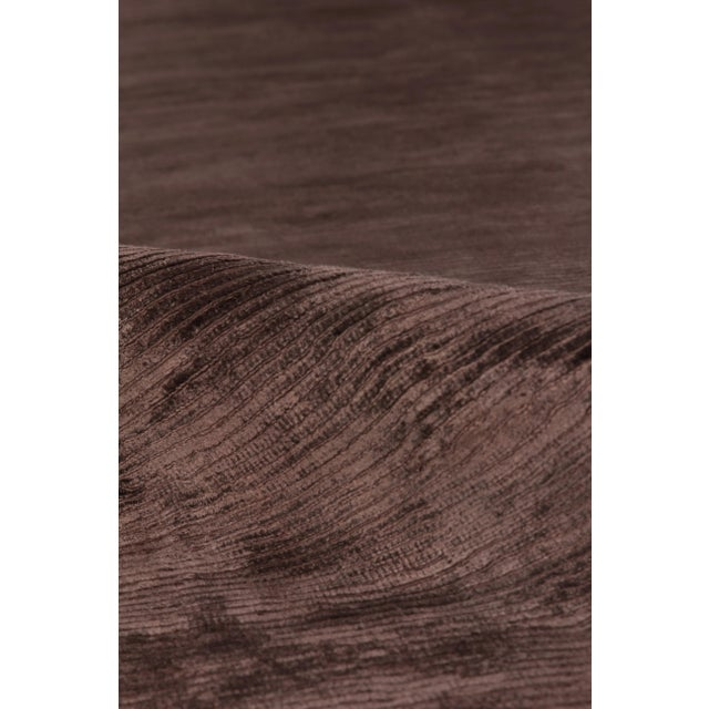 Not Yet Made - Made To Order Exquisite Rugs Ives Hand loom Viscose Brown Rug-14'x18' For Sale - Image 5 of 10