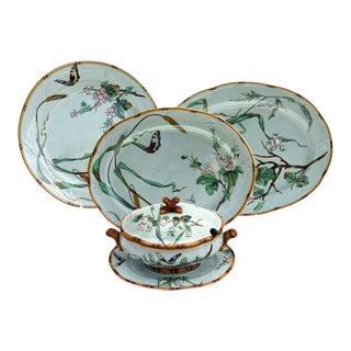 Minton 19th Century Aesthetic Movement Celadon Serving Pieces For Sale