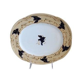 Antique English Victorian Platter For Sale