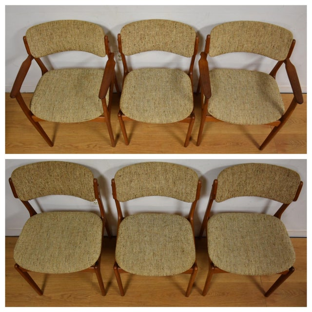 Erik Buck Teak Dining Chairs - Set of 6 - Image 3 of 11