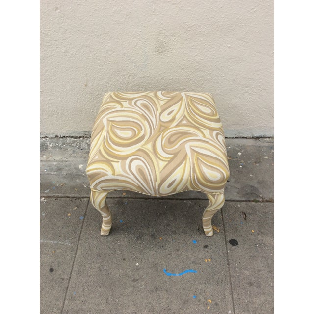 French Upholstered Funky Stool For Sale - Image 3 of 5